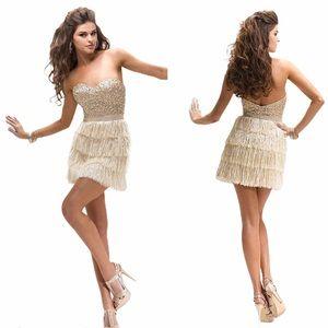 Flirt by Maggie Sottero short Fringe Dress size 4